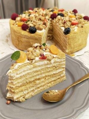 Smetoniškas medaus tortas - Spoon to The Moon